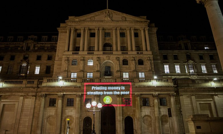 Bank of England Used as Billboard for Bitcoin Raises Inflation Concerns
